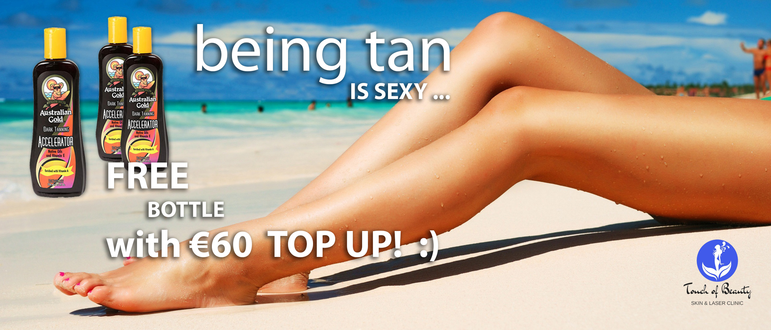tanning studio cork promotion